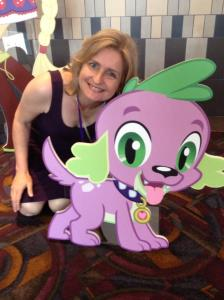 Cathy Weseluck, voice of Spike and Mayor Mare.